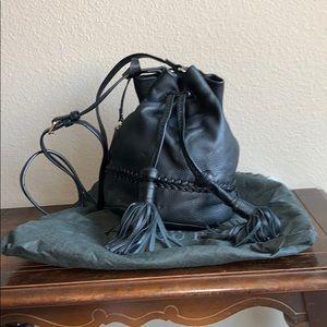 Vince Camino Black Leather Bucket Purse